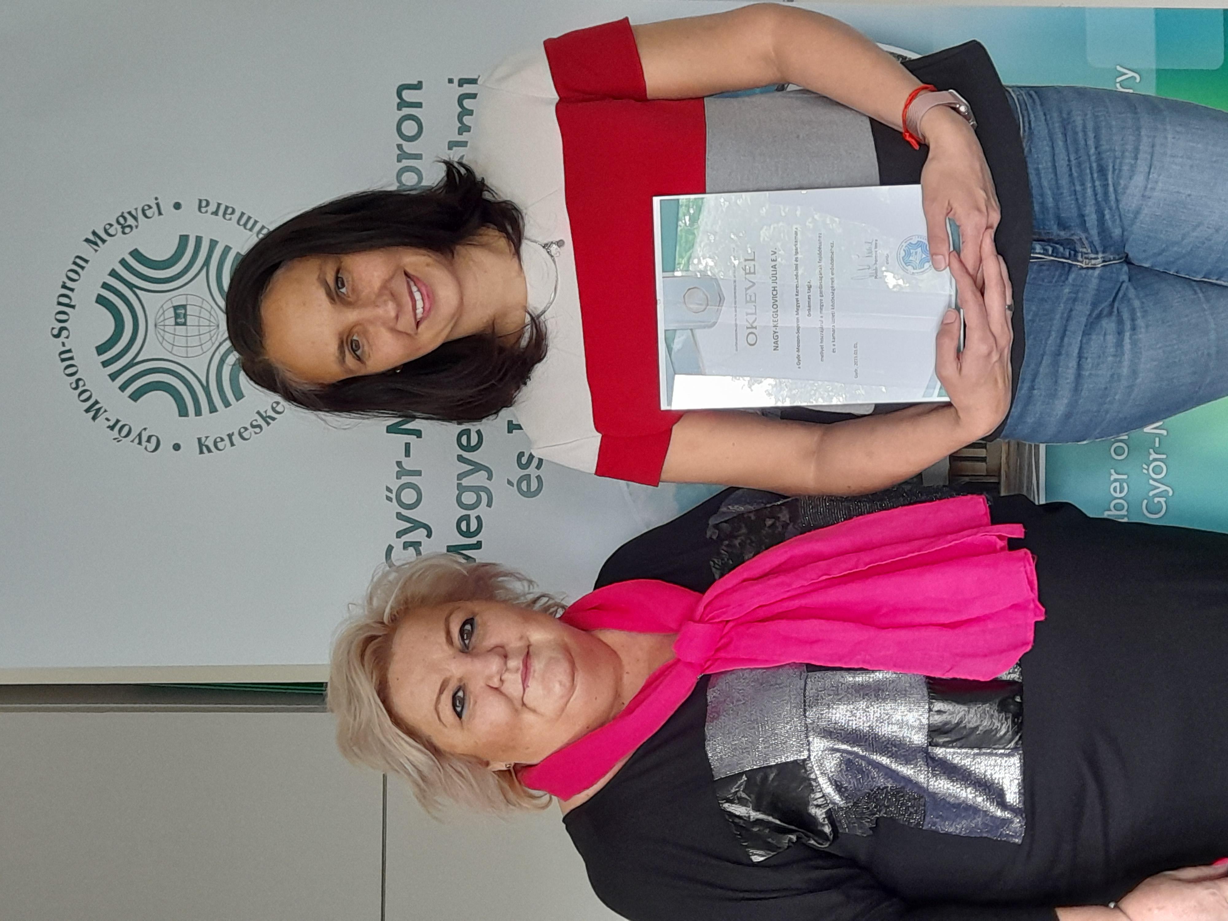 Új belépő tagunk: Nagy-Keglovich Júlia egyéni vállalkozó