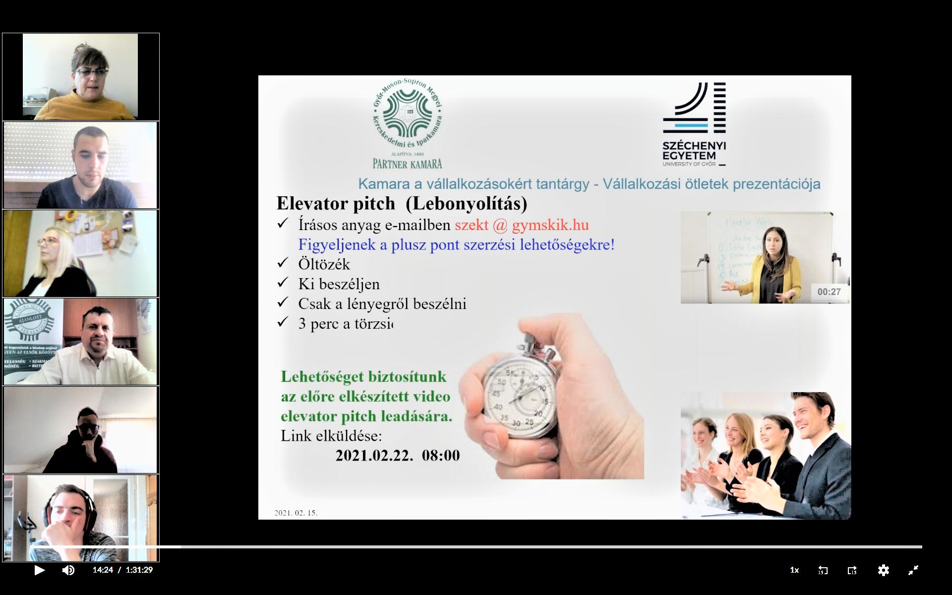 Kamara a vállalkozásokért tantárgy előadás – 2021.02.15.