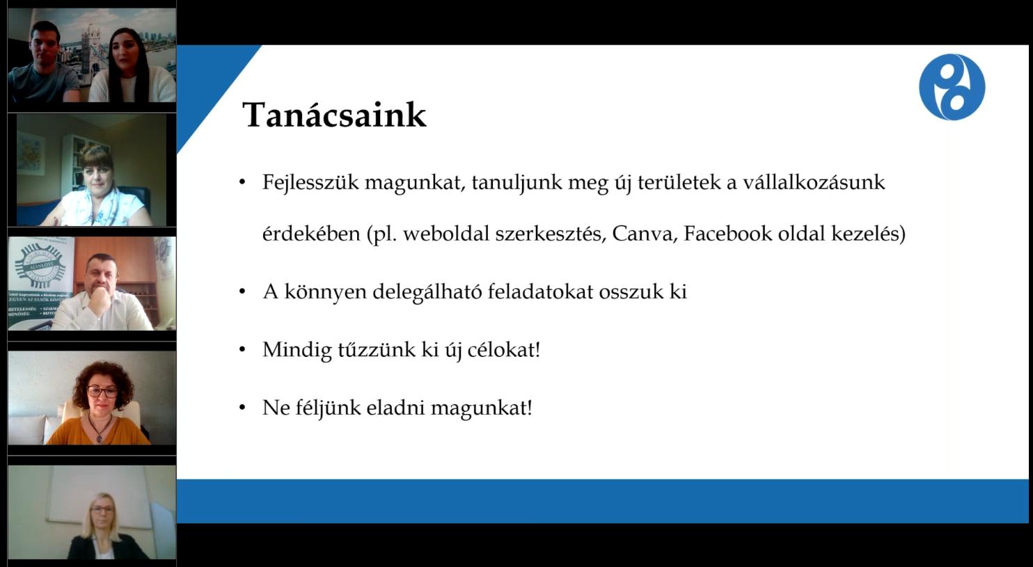Kamara a vállalkozásokért tantárgy előadás – 2021.03.01.