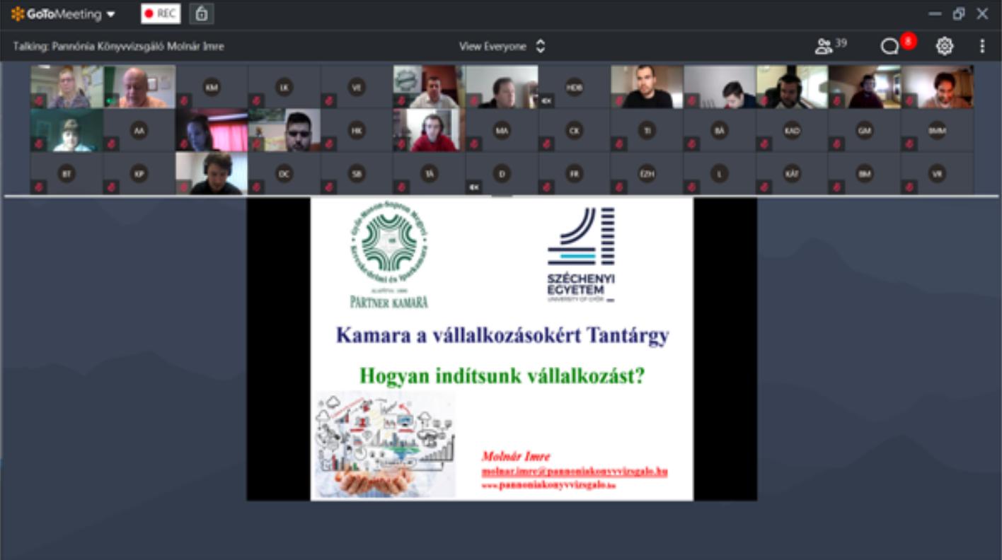 Kamara a vállalkozásokért tantárgy előadás – 2021.02.08.