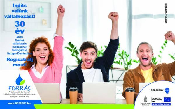 Forrás - Álláskeresők és fiatalok vállalkozóvá válásának ösztönzése a Nyugat-Dunántúlon projekt