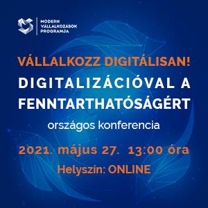 Digitalizációval a fenntarthatóságért-online konferencia