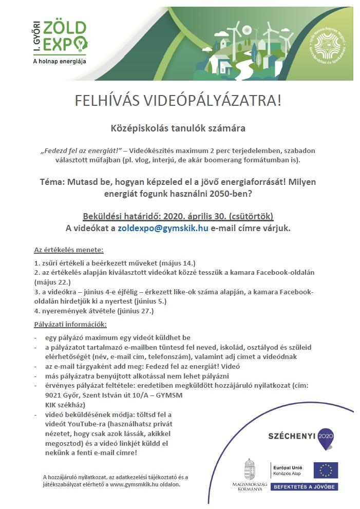Első Győri Zöld Expo – videópályázat