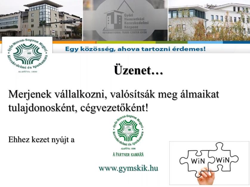 Kamara a vállalkozásokért tantárgy záró előadás – 2021.05.03.