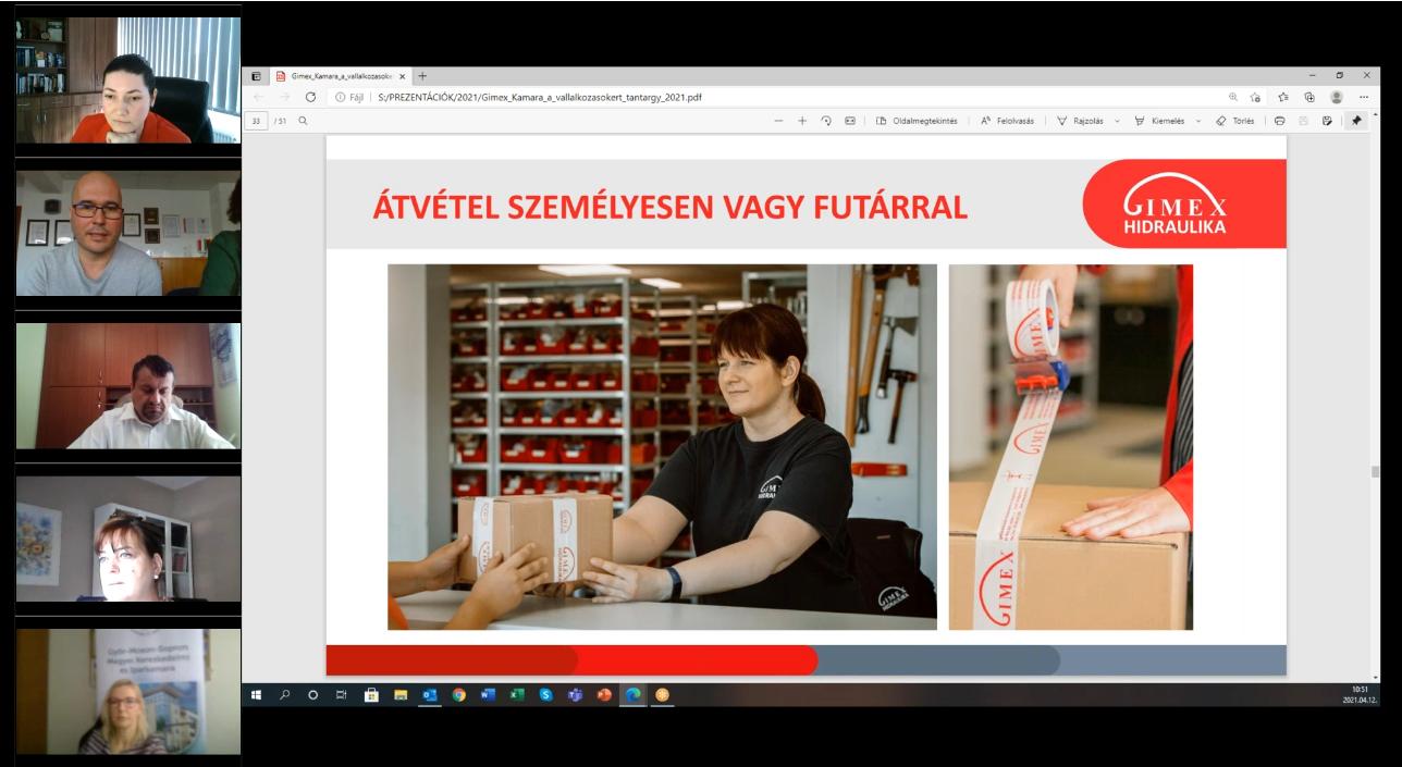 Kamara a vállalkozásokért tantárgy előadás – 2021.04.12.